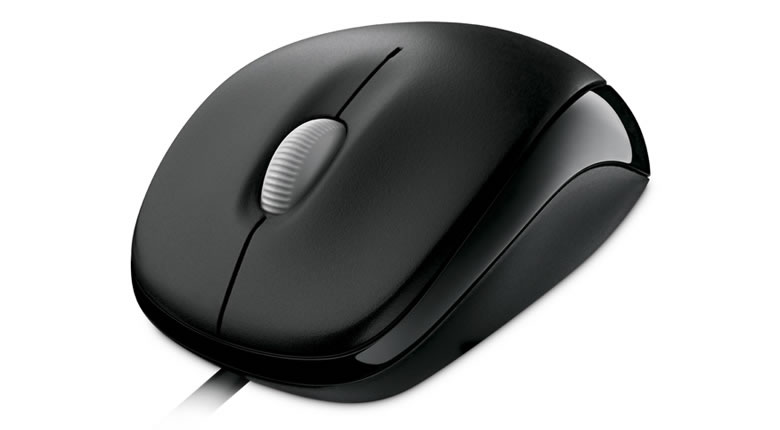 Microsoft 500 Compact  Mouse - USB / Black