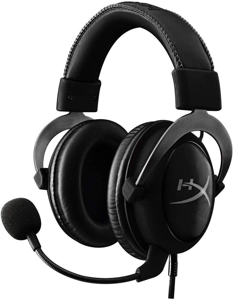 HyperX Cloud II Gaming Headset - 3.5mm & USB PC, PS4, Xbox One & Mobile / Virtual 7.1 / Black - Metal